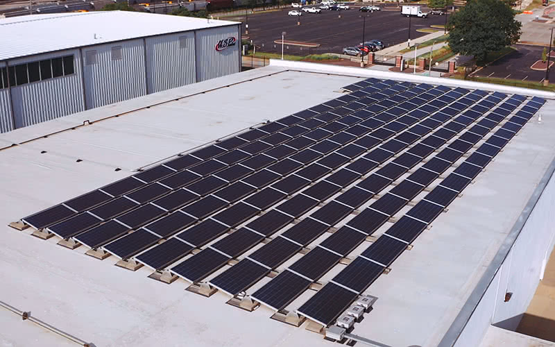Solar Panels at U.S. Paint in St. Louis MO